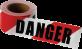 Danger Red & White Barricade Tape