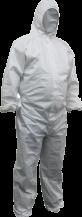White Polypropylene Disposable Coveralls