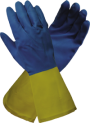 Blue/Yellow Neoprene Latex Glove