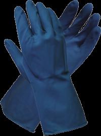Blue Latex Silverlined Glove