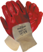 Red PVC Glove, Knitted Wrist