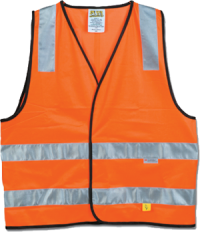 Orange Safety Vest, Day & Night Use