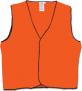 Orange Safety Vest, Day Use Only