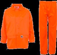 Orange PVC Rainwear Set